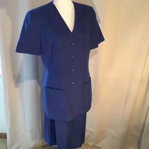 SALE! Blue Short Sleeve Suit